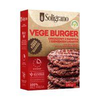 Soligrano vegán burger alappor paprikás lenmagos