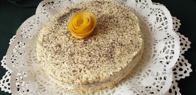 Mákos-citromos torta