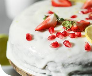 Gránátalmás sütemény